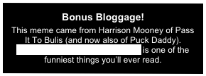 Bonus Bloggage!